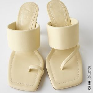 GORGEOUS ZARA NWT Leather Sandals w Padded Straps